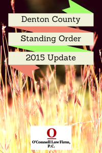 Denton-County-Standing-Order
